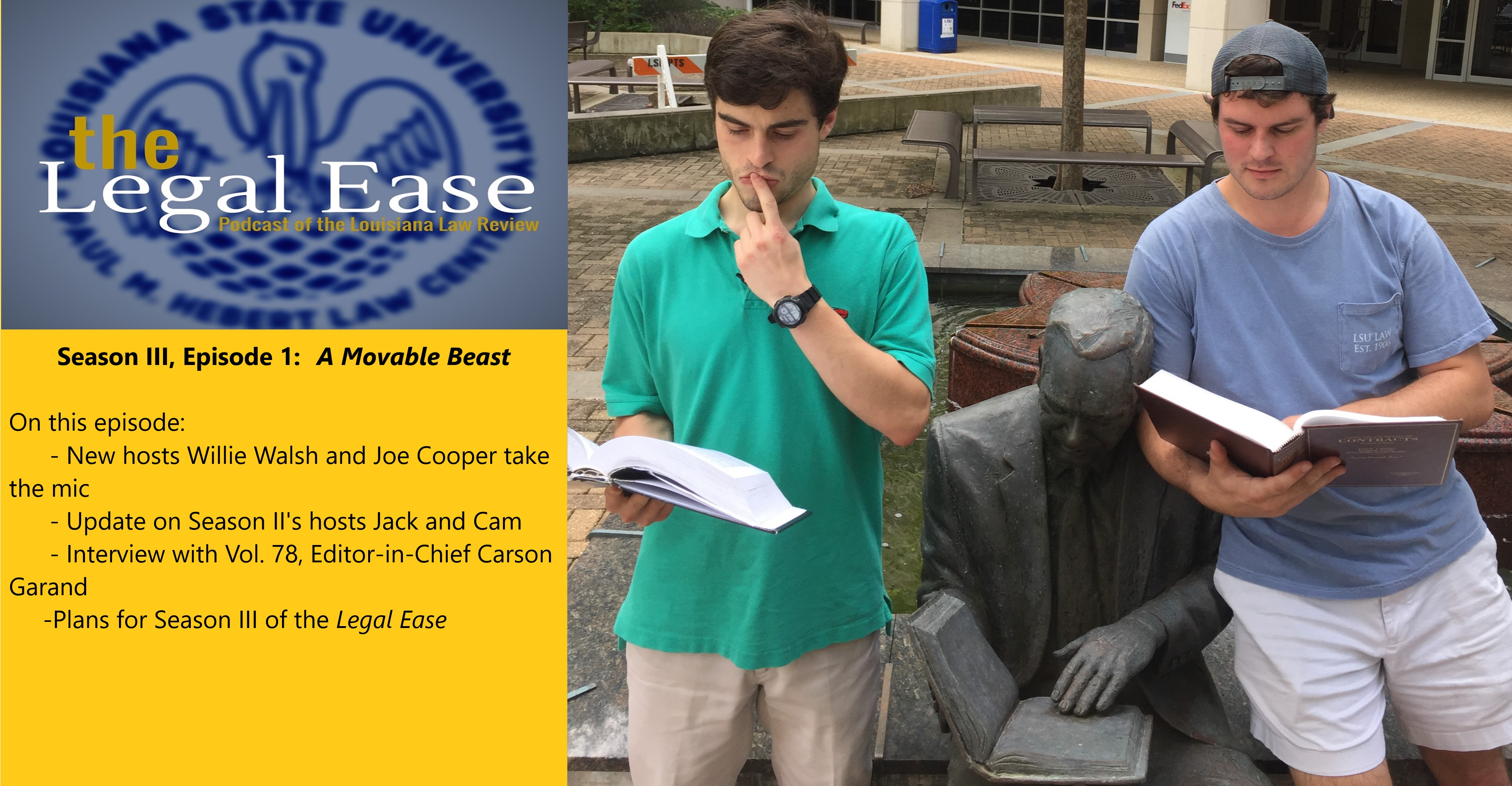 Season III of the Legal Ease Has Arrived!